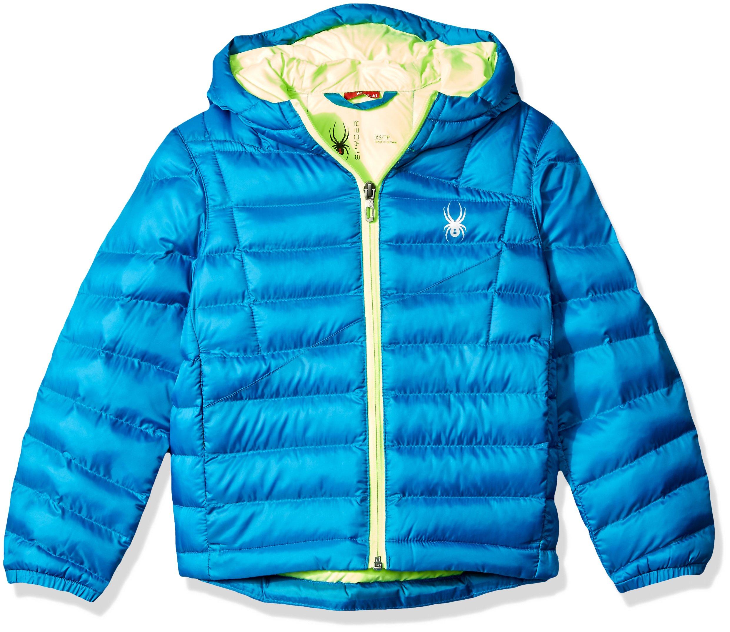 Spyder Boys Dolomite Synthetic Down Jacket, Concept Blue/Bryte Green, X-Large
