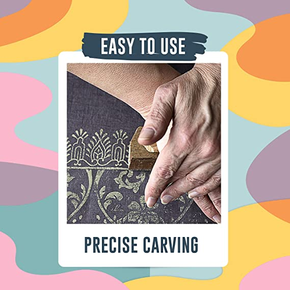 Pottery Crafts,Henna Design C Scrapbooking Wall Painting: Set of 10pcs Block Printing on Textiles Asian Hobby Crafts Baren Handcarved Wooden Blocks for Stamping