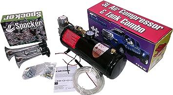 HornBlasters Motorcycle Valve /& Viair Compressor Combo