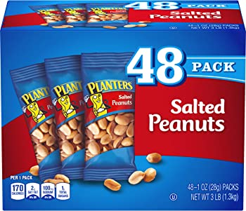 48-Pack Planters Salted Peanuts