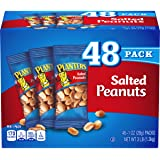 PLANTERS Salted Peanuts, 1 oz. Bags (48 Pack) - Snack Size Peanuts with Sea Salt & Simple Ingredients - Convenient…