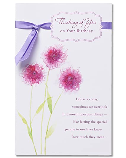 Amazon american greetings thinking of you birthday card with american greetings thinking of you birthday card with glitter m4hsunfo