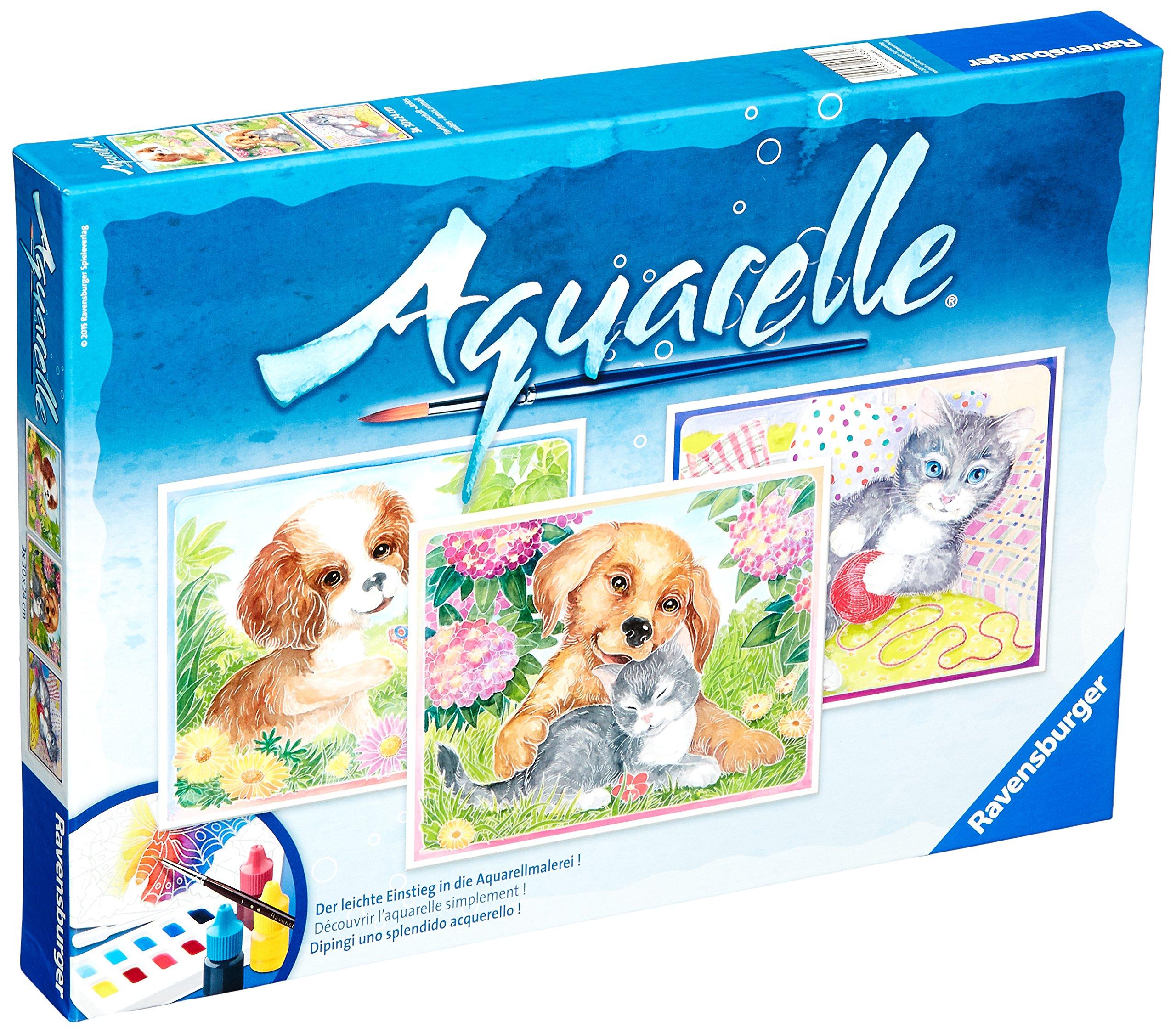 Ravensburger Aquarelle Watercolors Made Easy Animal Friends Playset
