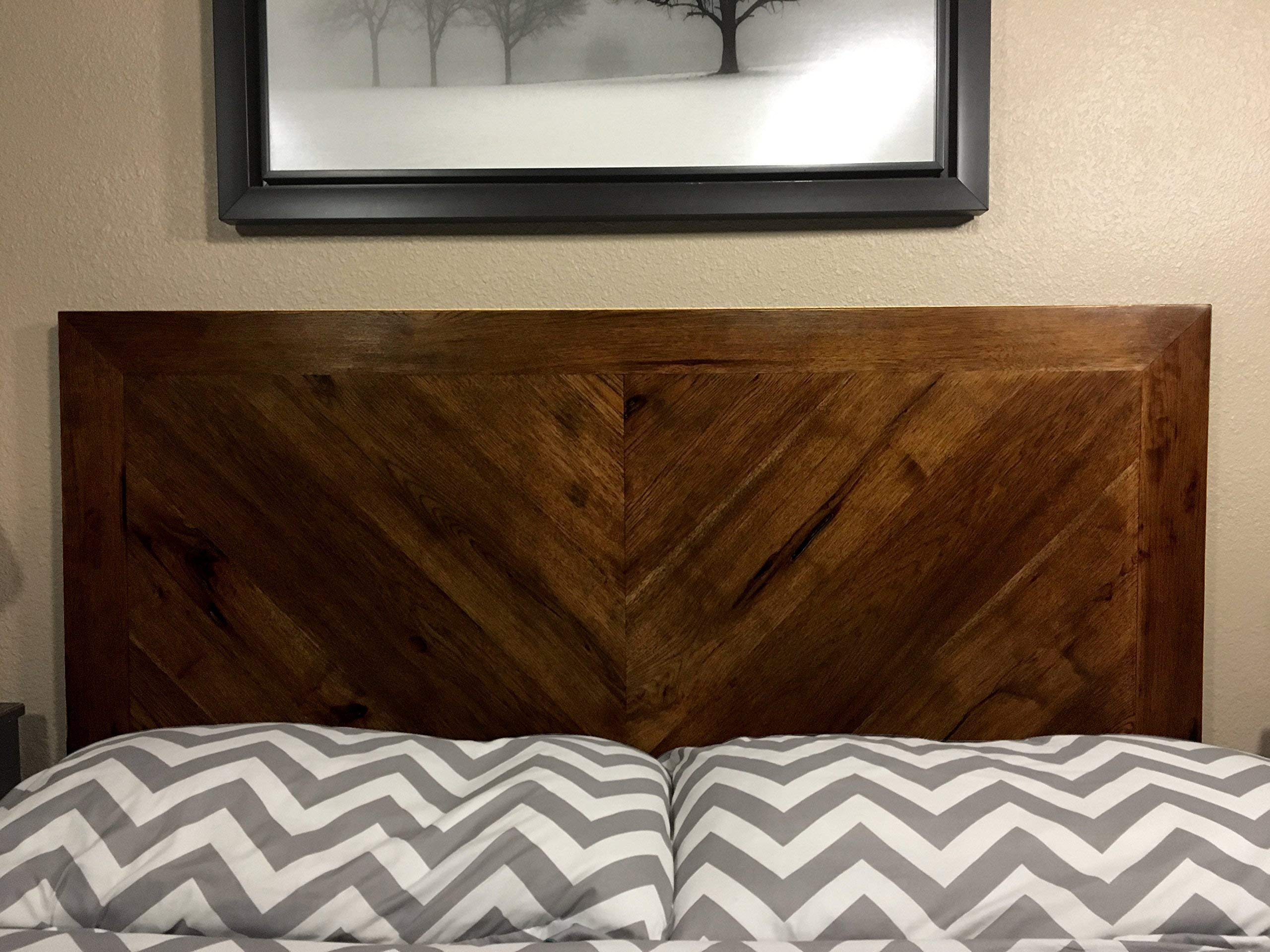 Rustic Headboard Wood by CW Furniture King Queen Twin Full Size Custom Handmade Country Ranch Solid Hardwood Legs Wall Mount French Cleat Bedroom by Candlewood Furniture