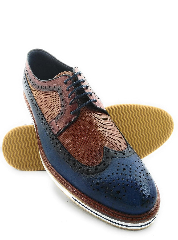 Zerimar Lederschuh Schuhe fuuml;r Herren Schuhe Elegant Herren Lederschuhe Casual Echter Leder Schuh fuuml;r Mann Bequeme Schuhe Man  43 EU|Leder Marineblau