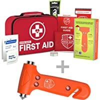 Bundle & Save: Car Safety Hammer with First Aid Kit (120-Piece)