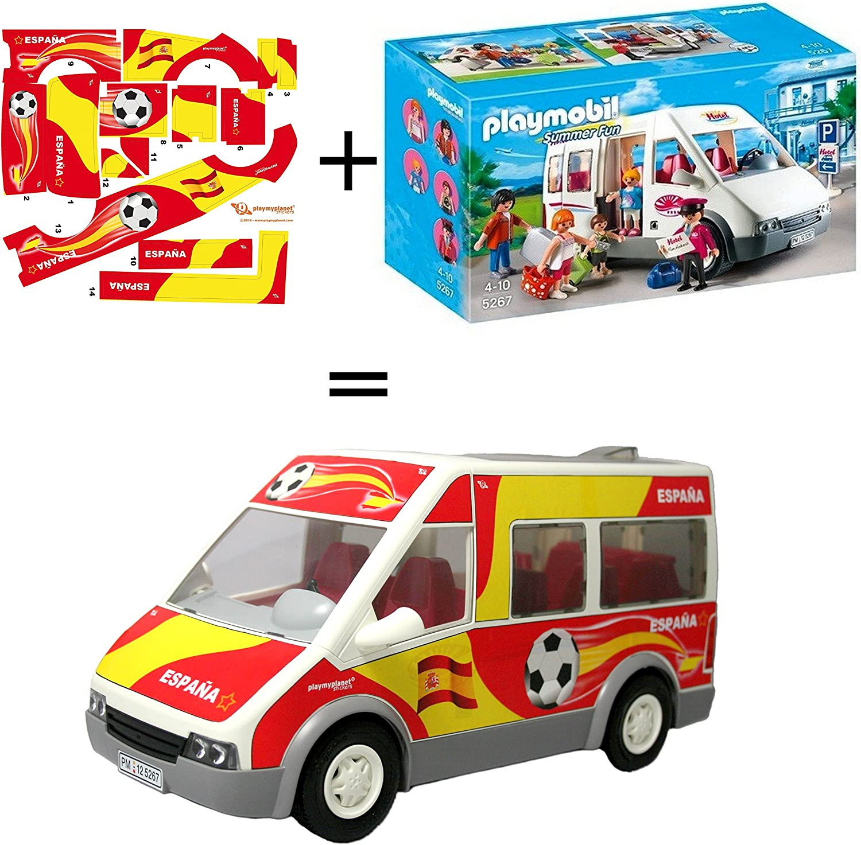 Pack Playmobil 5267 Mini Bus del Hotel + Stickers Adhesivos de ...