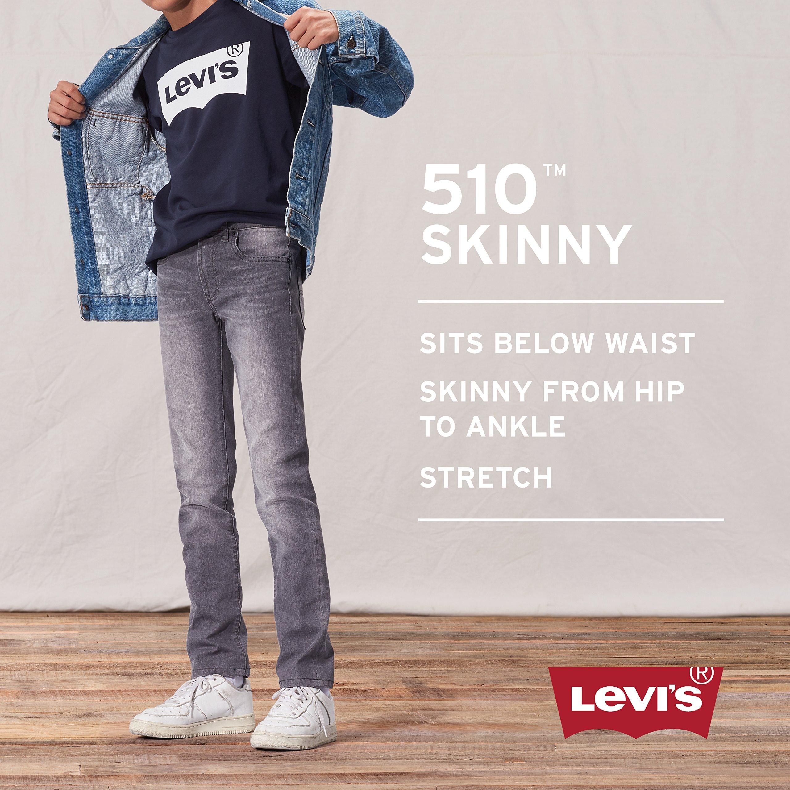 Levi's Boys' Big 510 Skinny Fit Jeans, Aura Orange, 8 by Levi's (Image #3)