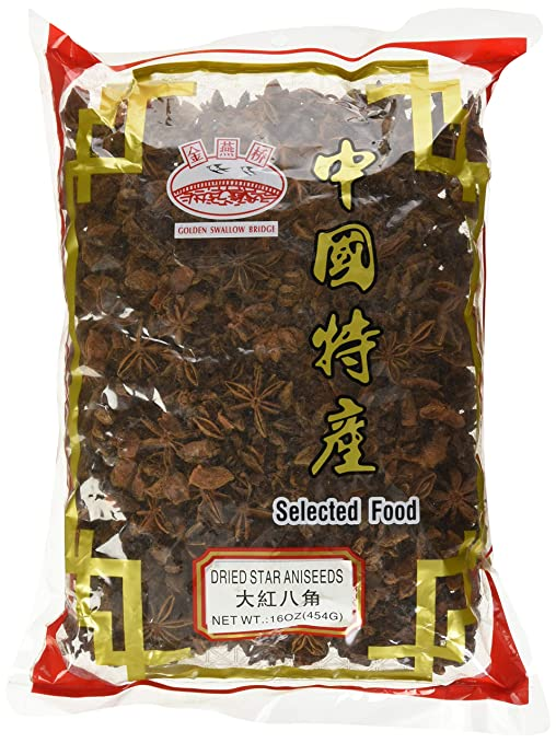 Spicy World Star Anise-1Lb-Whole Chinese Star Anise Pods