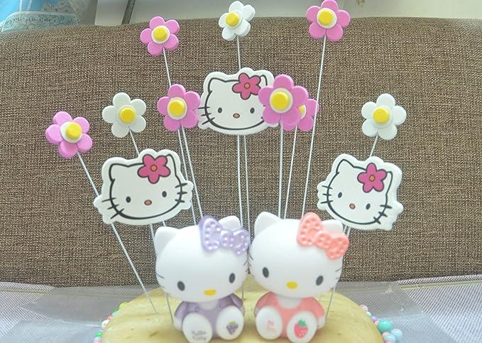 Un conjunto de Kitty Cat y 4pcs Set Peppa Pig para tartas ...