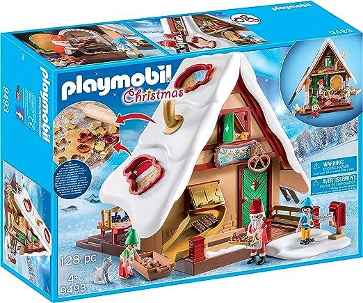 PLAYMOBIL Christmas Panadería Navideña con Cortadores de Galletas, A partir de 4 años (9493): Amazon.es: Juguetes y juegos