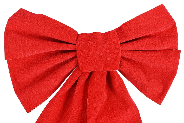 Amazon.com: Lazo de terciopelo rojo para Navidad, 9.0 in x ...