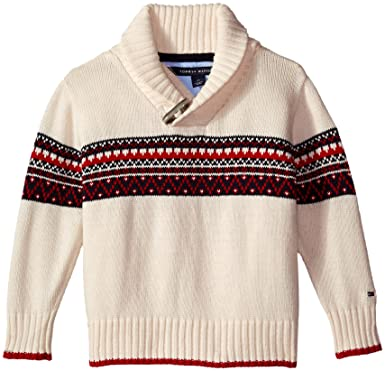 Amazon.com: Tommy Hilfiger Boys' Long Sleeve Fair Isle Sweater ...