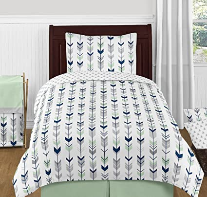 Top Amazon.com: Sweet Jojo Designs 4-Piece Grey, Navy and Mint  WB86