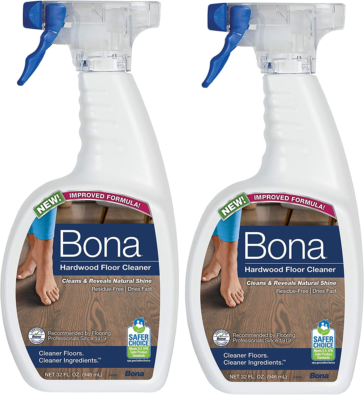 2 Pack Bona Hardwood Floor Cleaning Spray 32oz: Home & Kitchen