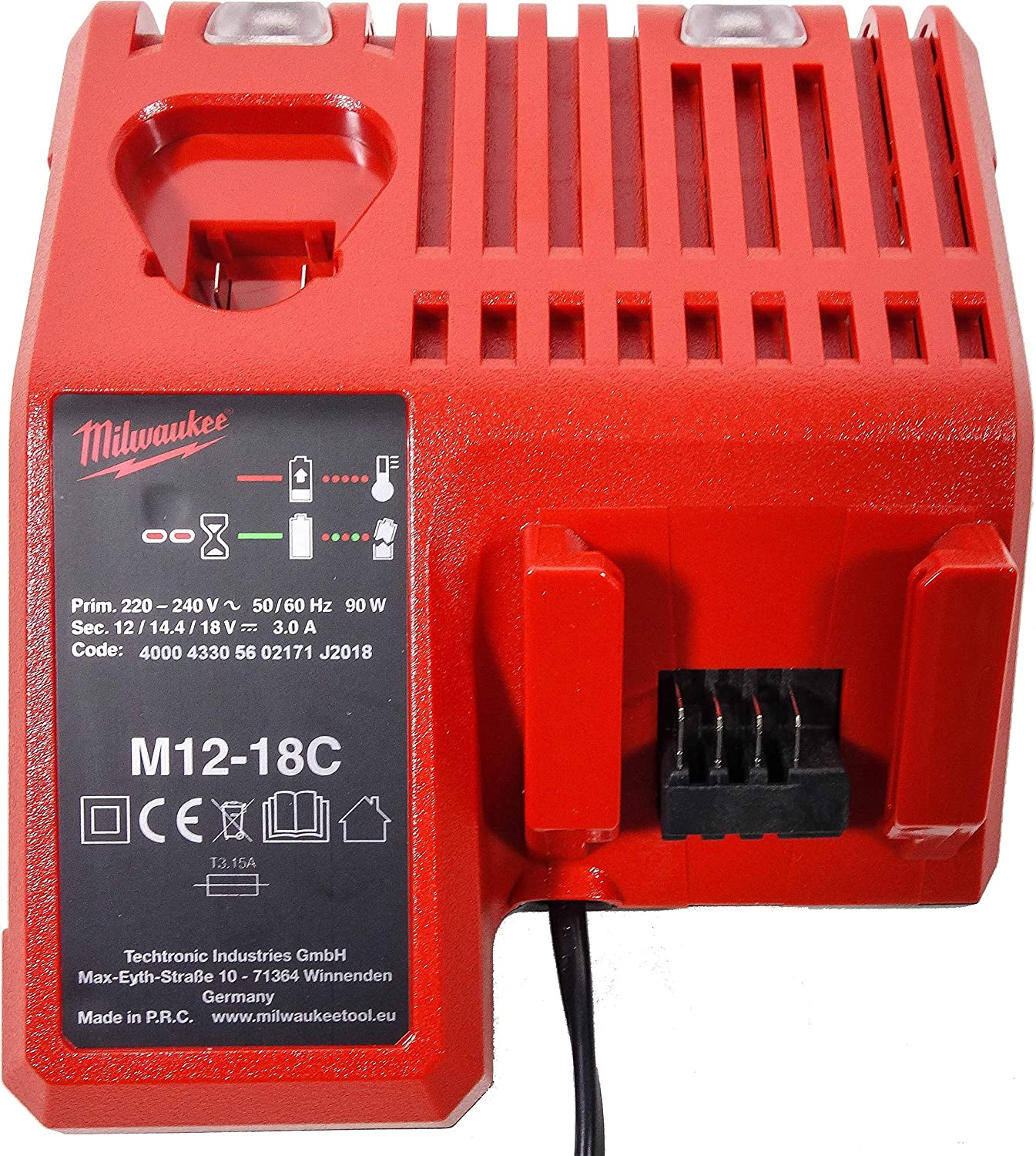 M12-M18//12-18 V 3A 220 V Remplacement Milwaukee Chargeur pour Milwaukee 48-59-1812 48-59-1808 Outil