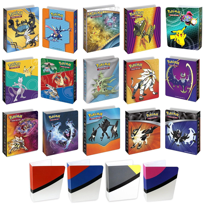 8 Mini Album For Pokemon Cards with Bonus Totem Mini Binder - Sleeves Included Coolinko