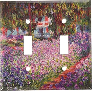 Art Plates - Monet: The Artist's Garden Switch Plate - Double Toggle
