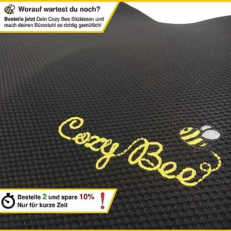 Schwarz Cozy Bee Sitzkissen Ergonomisches weiches Memory Schaum Kissen für