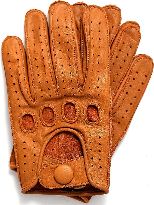 Riparo Men's Genuine Leather Driving Motorcycle Riding Gloves