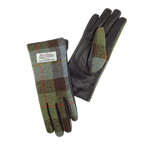 Harris Tweed – Guantes – para mujer verde COL15 Large