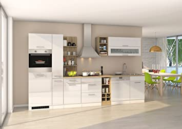 Held Möbel 584.1.6210 Mailand Küche, Holzwerkstoff, hochglanz weiß ...