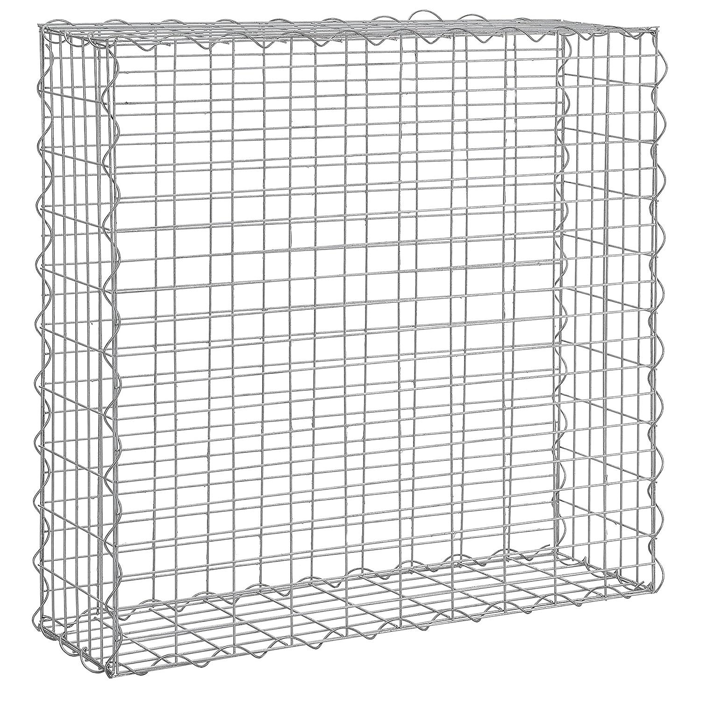 pro.tec] 1x Gabione (100 x 100 x 30 cm) Steingabione / Steinmauer ...