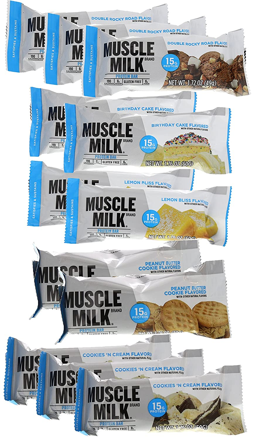 Amazon Cytosport Muscle Milk Blue Bar Variety Pack 12 176oz