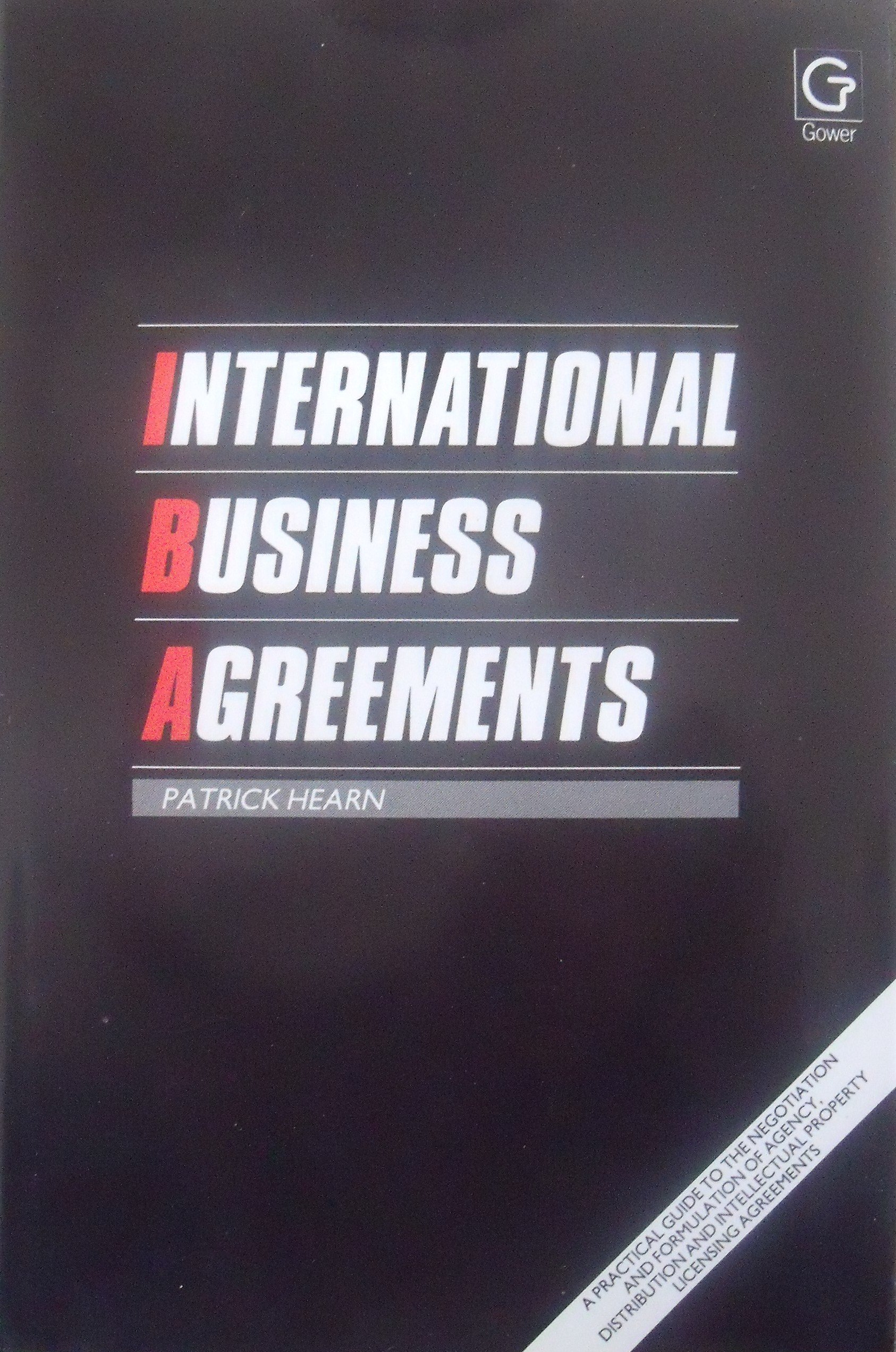 International Business Agreements A Practical Guide To The