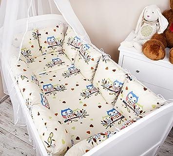 Baby Bettwäsche A 2tlg Bettset Kissen+Decke für Babybett 70x140 Blau 6 Designs