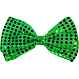 61cf0740b7503 Amazon.com: Saint Patrick's Day Green Sequin Bow Tie: Kitchen & Dining
