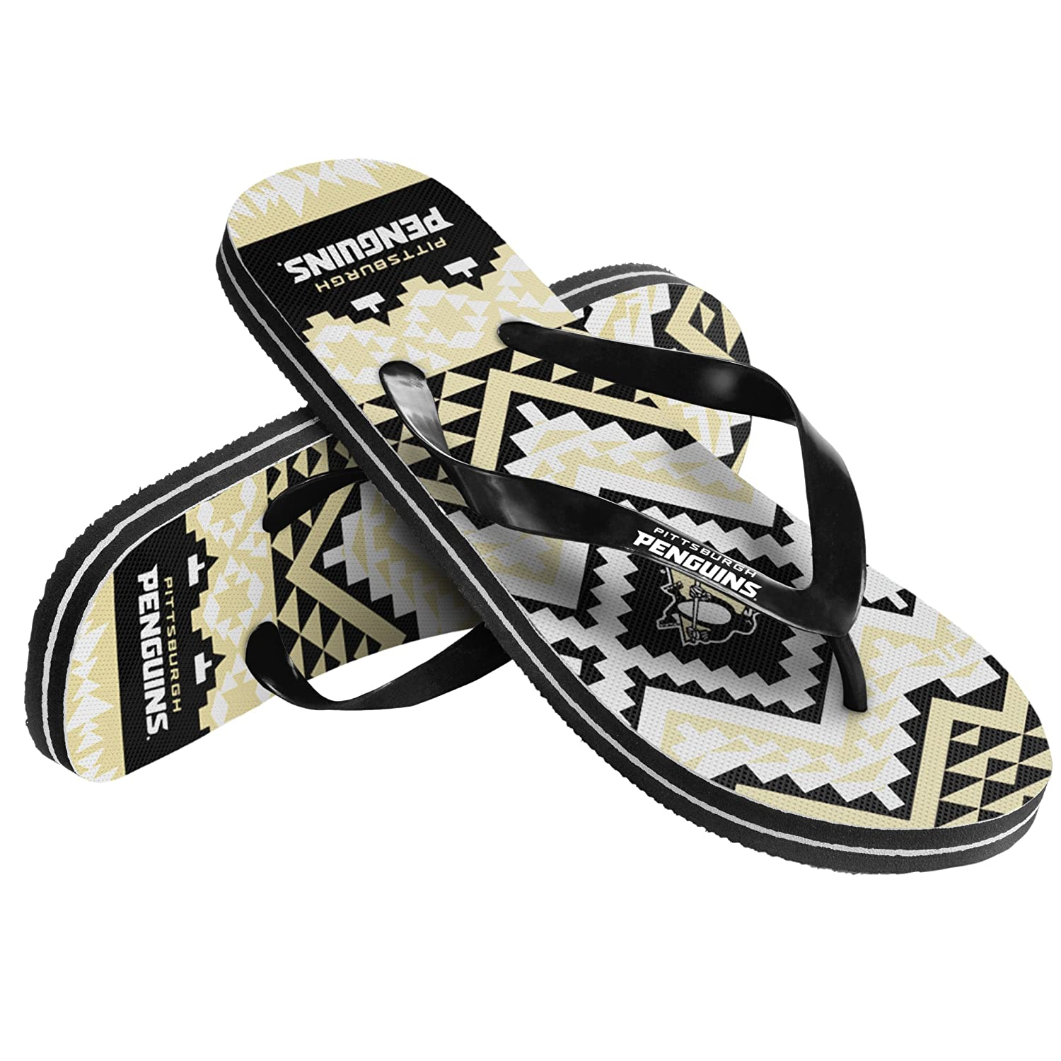 Pittsburgh Penguins Womens Aztec Flip Flop Extra Large