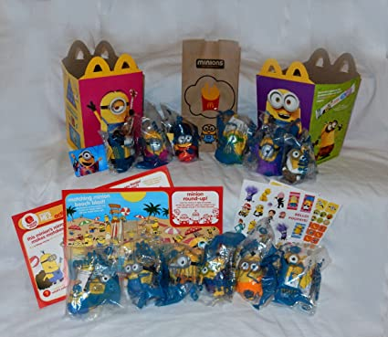 2015 NEW McDONALDS MINIONS TALKING TOYS COMPLETE SET OF 11 SEALED
