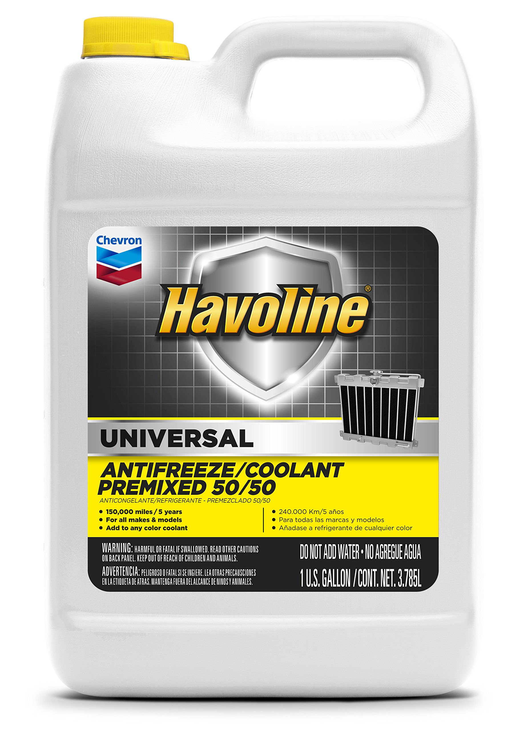 Havoline Universal Prediluted 50/50 Antifreeze/Coolant - 1 Gallon, (Pack of 6) by Havoline