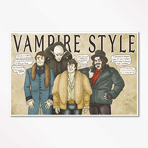 Amazoncom Vampire Style What We Do In The Shadows Signed Art
