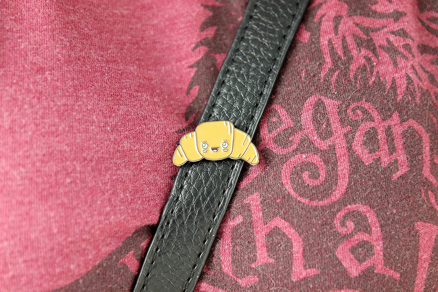 Lapel Croissant Enamel Pin or Hat Oh Hello Co Jacket Cute and Perfect Accessory for Backpack
