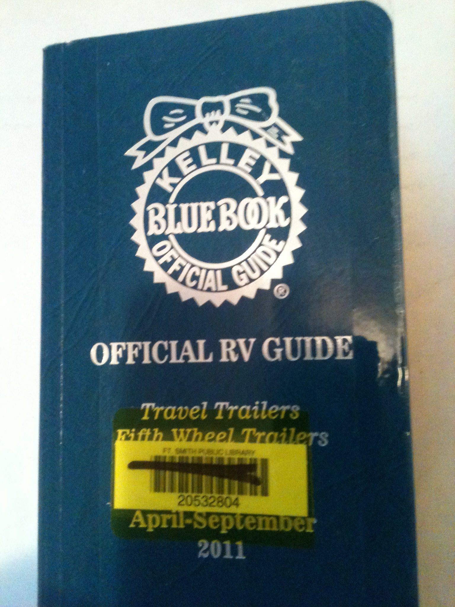 Kelley Blue Book For Rvs >> Kelley Blue Book Official Rv Guide Travel Trailers Fifth