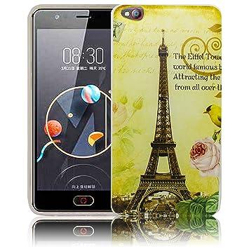 Compatible para ZTE Nubia M2 Lite La Tour Paris torre Eiffel Funda ...
