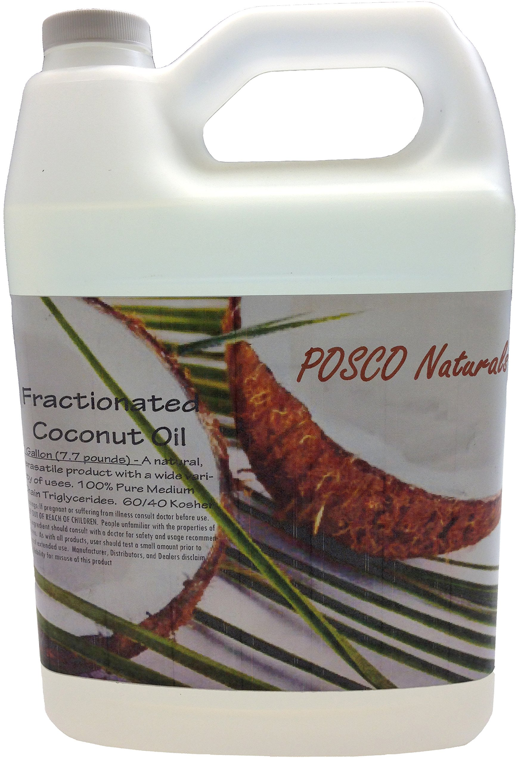 Fractionated Coconut Oil - 1 FULL Gallon (7.7 pounds) - 100% Pure