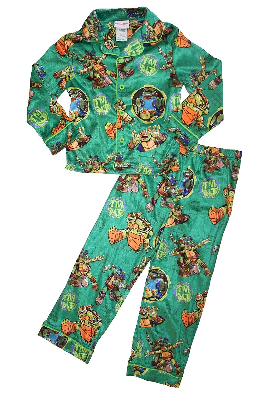 Teenage Mutant Ninja Turtles Big Boys Good Guys Button Up 2pc Pajama Set
