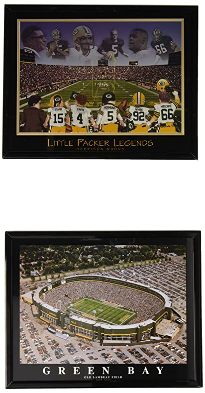 Amazon.com: Green Bay Packers Framed Prints with Old Lambeau Field ...