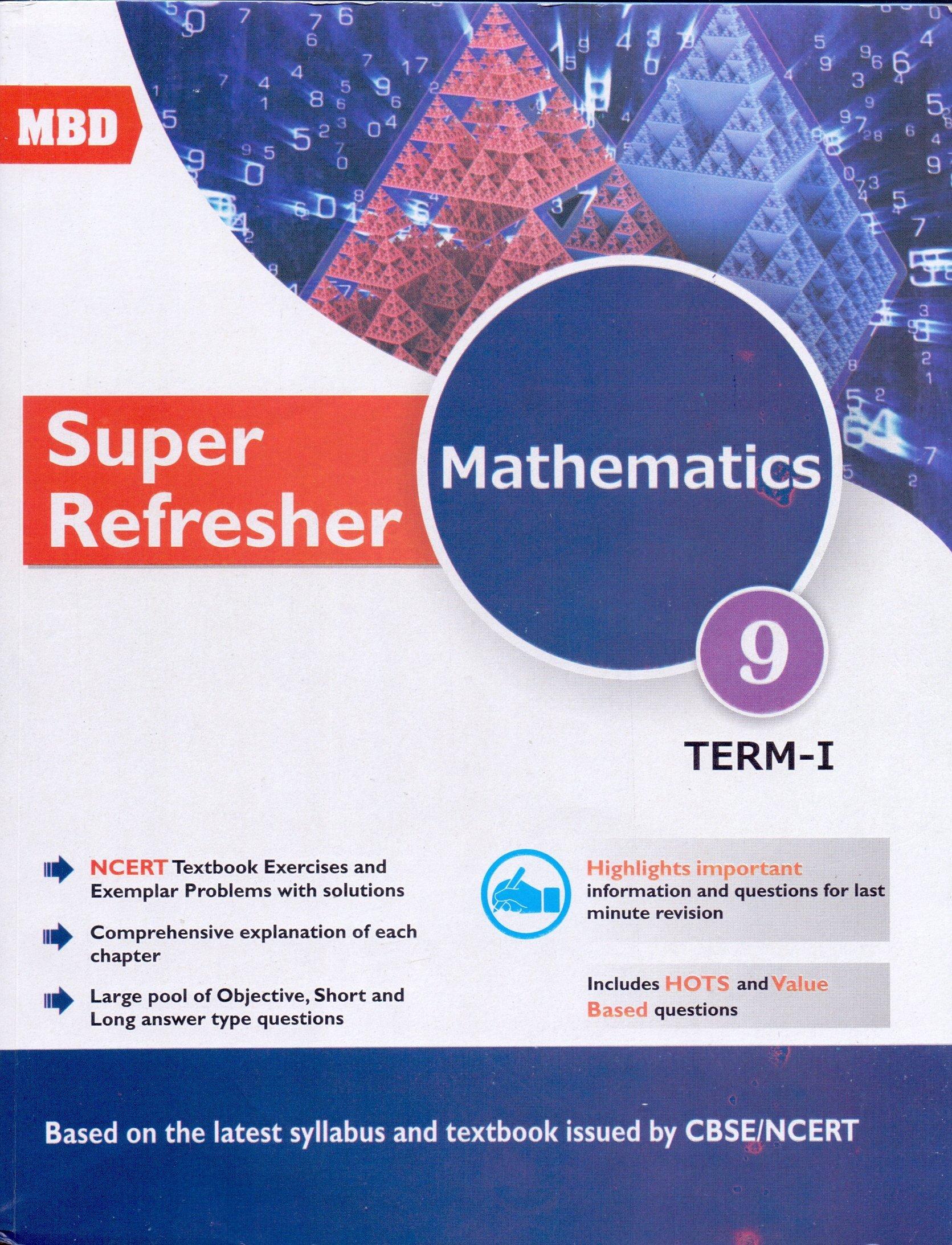 MBD Math Super Refresher Class- 9 E Term 1 & 2: Amazon.in: V.K. ...