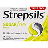 Strepsils Sore Throat Sugar Free Antibacterial Lemon Lozenges (36 Pack)