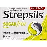 Strepsils Sore Throat Sugar Free Antibacterial Lemon Lozenges (36 Pack)