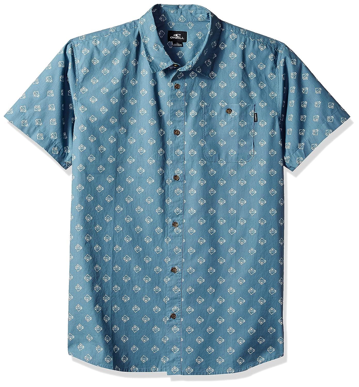 ONEILL Mens Standard Fit Short Sleeve Woven Button Down Mini Print Shirt