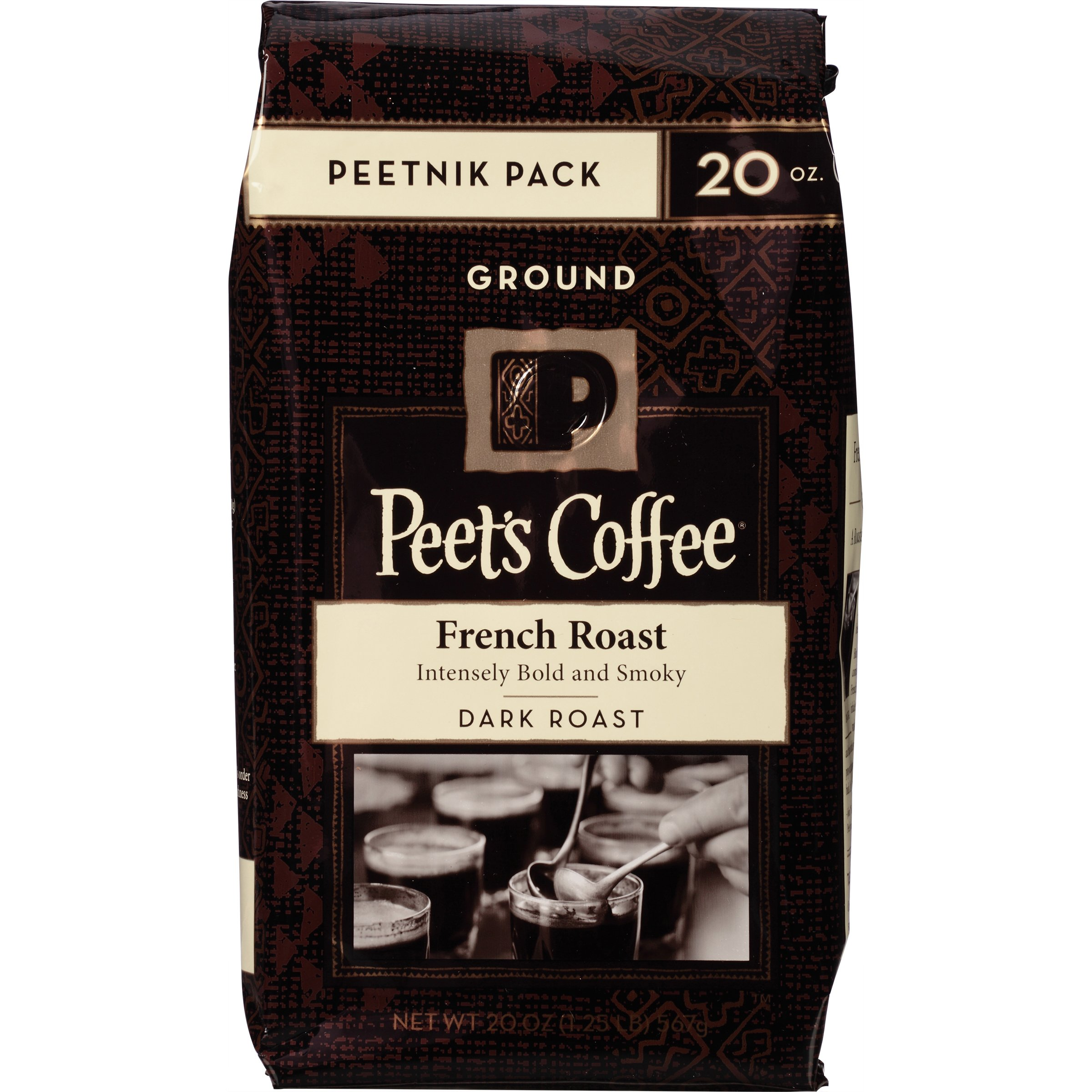 Peet's Coffee & Tea Ground French Roast 20 Ounce French Roast Ground 16
