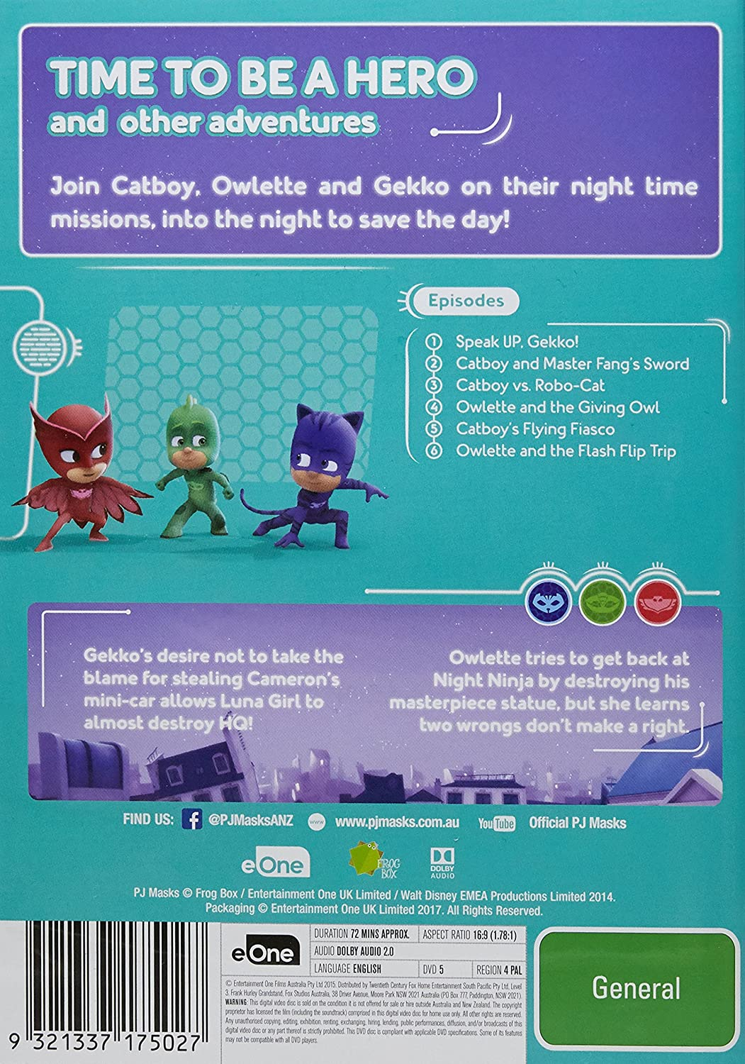 Amazon.com: PJ Masks: Time to Be a Hero | NON-USA Format ...
