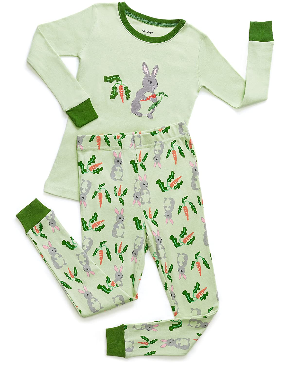fe4131a5e Amazon.com  Leveret Kids   Toddler Pajamas Boys Girls 2 Piece Pjs ...