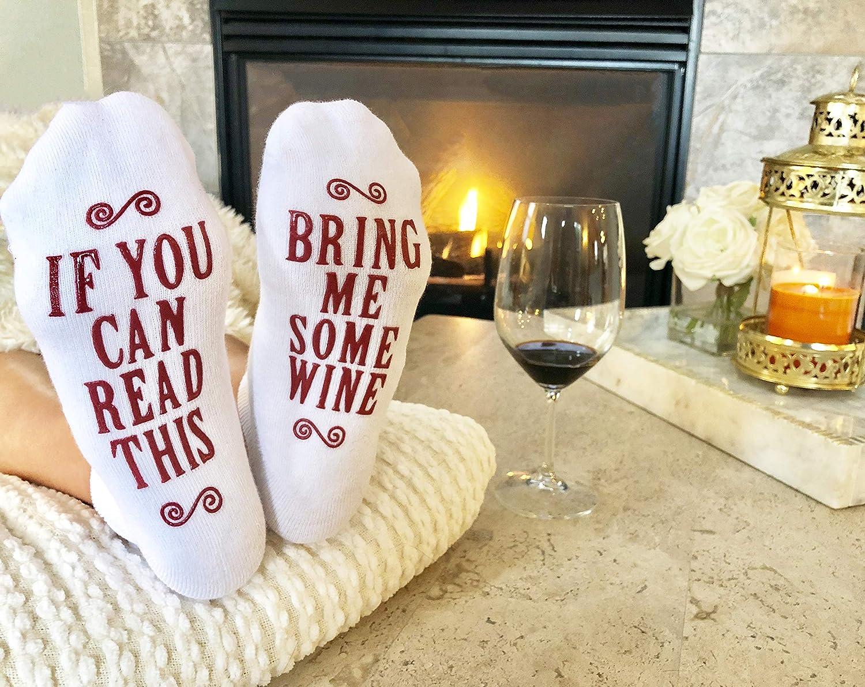 Amazon Com Bring Me Some Wine Luxury Combed Cotton Socks With