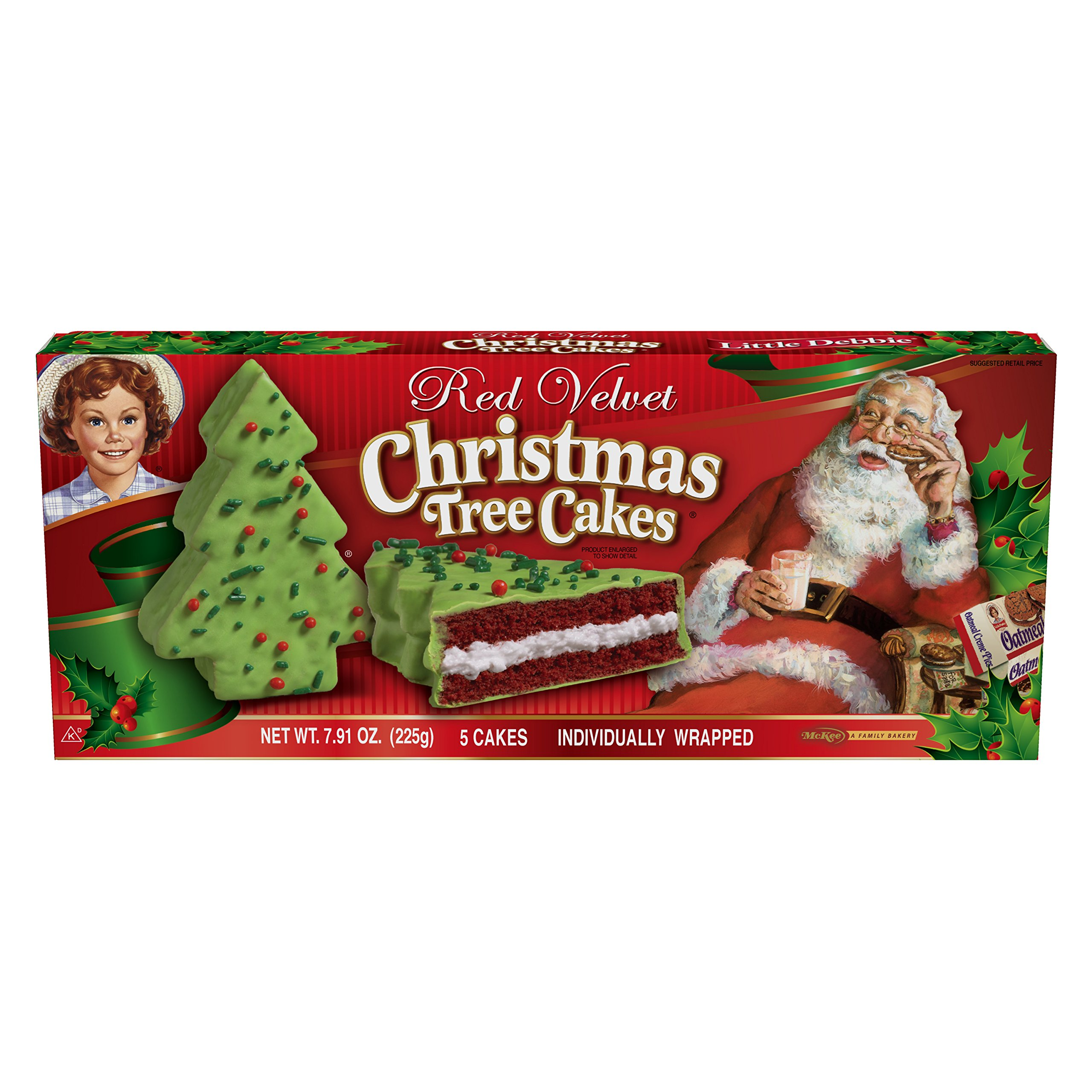 Little Debbie Vanilla Christmas Tree Cakes (2 Pack ...